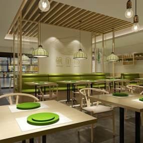 现代餐厅3D模型【ID:636072271】