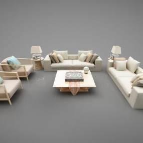 现代风格沙发3D模型【ID:647375764】