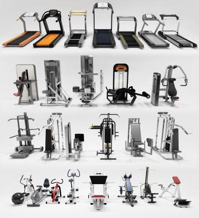 現代健身房器械3D模型【ID:446533434】