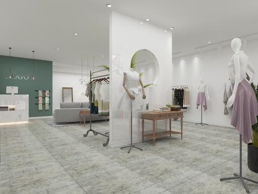 现代服装店3D模型【ID:146435027】