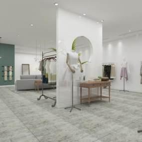 現代服裝店3D模型【ID:146435027】