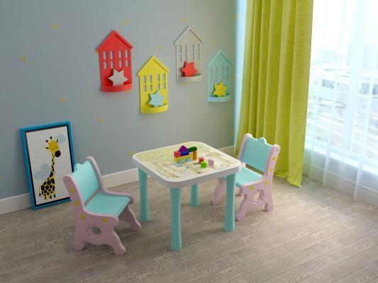 現代兒童桌椅套裝3D模型【ID:946159336】