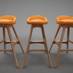 现代风格吧椅3D模型【ID:646940457】