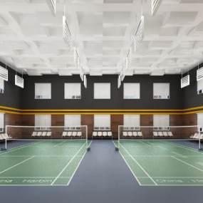 现代羽毛球馆3D模型【ID:834525735】