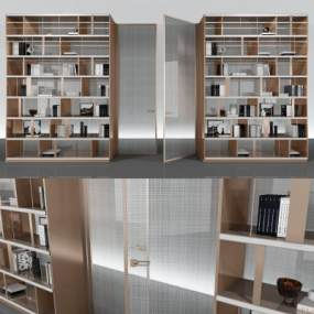 现代装饰隔断柜组合3D模型【ID:150666172】