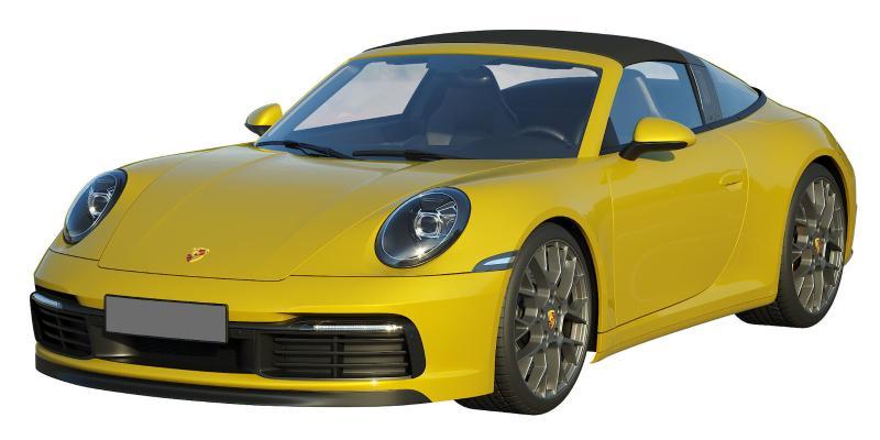 現代保時捷敞篷轎跑車3D模型【ID:444344778】