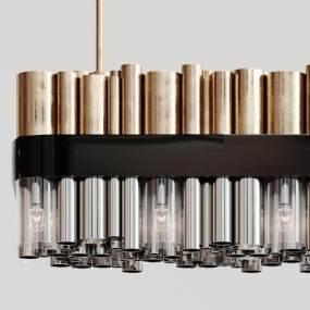 现代金属吊灯3D模型【ID:731606837】