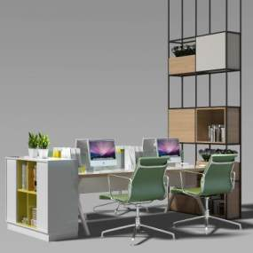 现代办公桌3D模型【ID:932469111】
