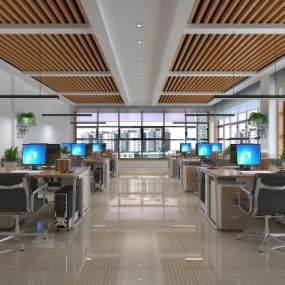 現代公共辦公空間3D模型【ID:946752005】