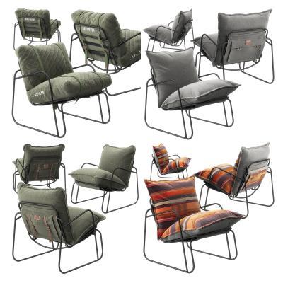 现代绒布休闲椅3D模型【ID:743089045】