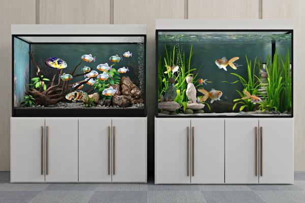 現代生態魚缸3D模型【ID:340587600】