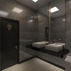 男厕洗手台 3D模型【ID:941571695】