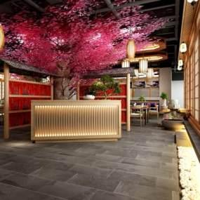 日式餐厅包间3D模型【ID:545935128】