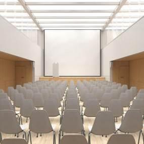 现代会议室3D模型【ID:951040172】