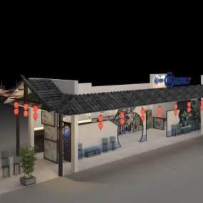 中式展厅3D模型【ID:931952733】