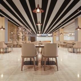 现代餐厅3D模型【ID:653994223】