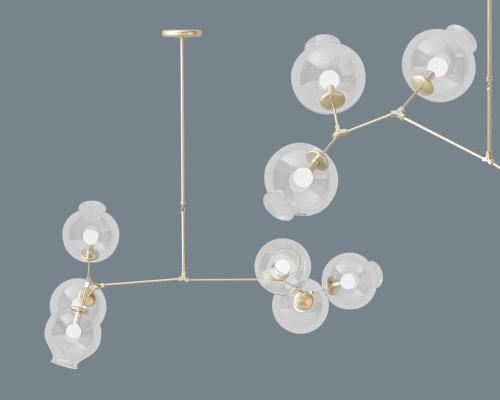 现代吊灯3D模型【ID:841924683】