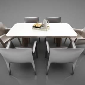 现代风格餐桌3D模型【ID:852622889】