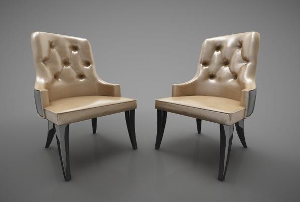 新中式风格餐椅3D模型【ID:743950191】