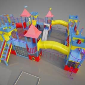 现代儿童游乐设备3D模型【ID:434822140】