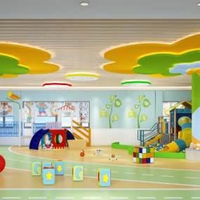 現代幼兒園活動室3D模型【ID:949102685】