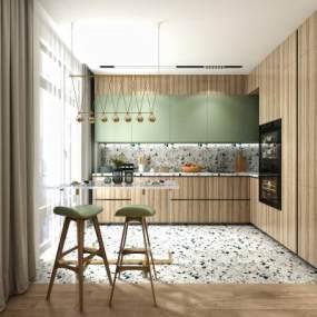 北欧厨房3D模型【ID:553007302】