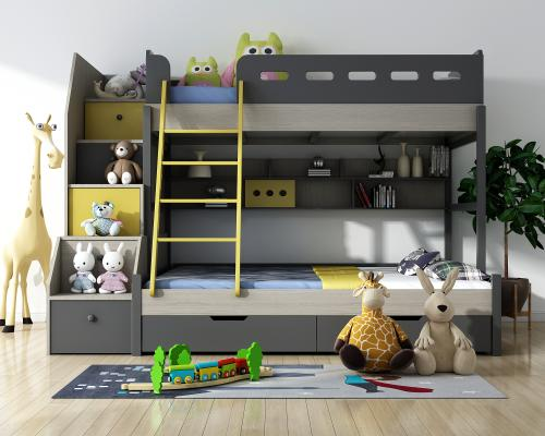 北欧儿童床3D模型【ID:846957813】