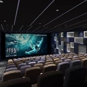 现代电影院3D模型【ID:643420805】