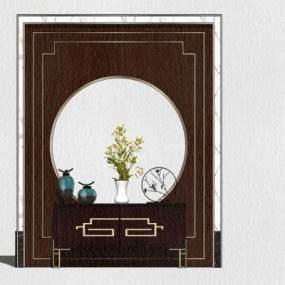 新中式风格餐边柜 装饰柜【ID:248847320】