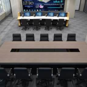 现代司法系统指挥中心戒毒所会议室3D模型【ID:946937175】