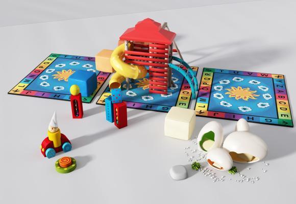 现代儿童玩具3D模型【ID:444287138】