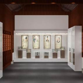 中式纪念馆3D模型【ID:950958985】