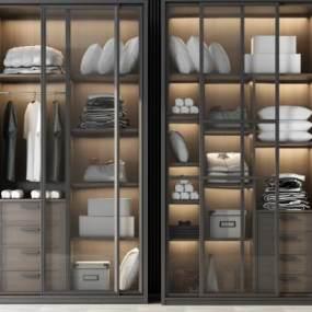 现代衣柜3D模型【ID:144409435】