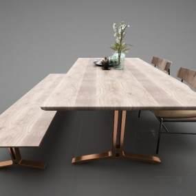 现代风格餐桌3D模型【ID:852710846】