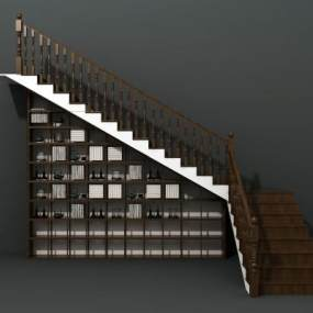 简欧楼梯3D模型【ID:353723552】