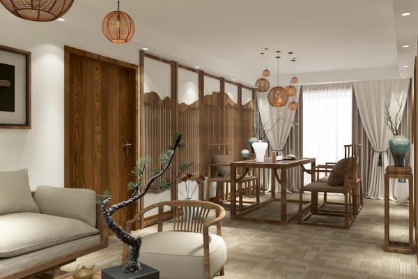 日式茶室3D模型【ID:843279611】
