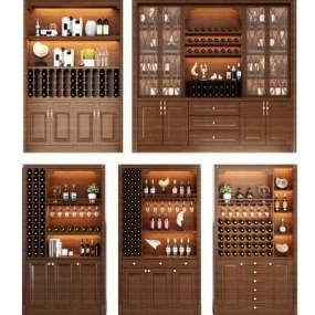 现代酒柜 3D模型【ID:641554299】