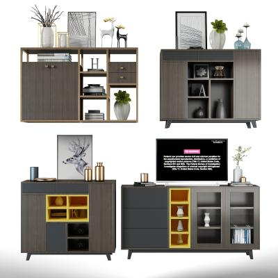 現代邊柜3D模型【ID:147109060】