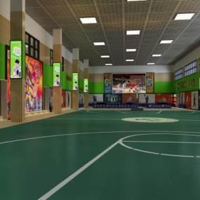 現代體育館3D模型【ID:649463995】