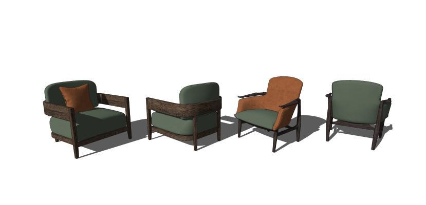 现代休闲单椅