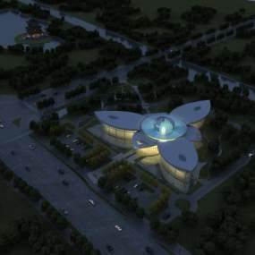 現代展覽館3D模型【ID:645994992】