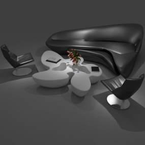 后现代异形沙发3D模型【ID:630721971】