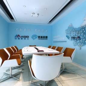 现代会议室3D模型【ID:950774636】