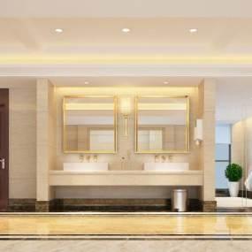 新中式酒店衛生間3D模型【ID:434741107】