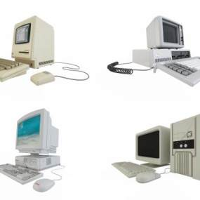 现代电脑计算机组合3D模型【ID:235470701】