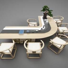現代風格餐桌3D模型【ID:848218854】