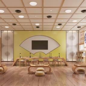 新中式幼儿园国学教室3D模型【ID:933807619】