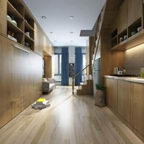 北欧公寓单张客厅3D模型【ID:532140076】
