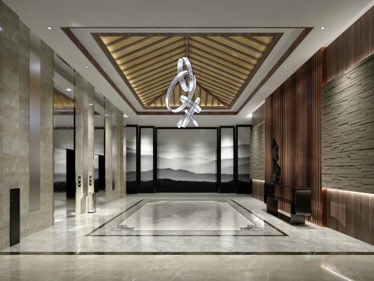 新中式电梯空间