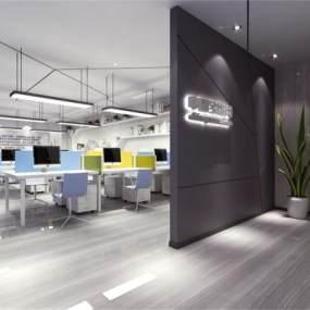 现代办公室3D模型【ID:932950038】